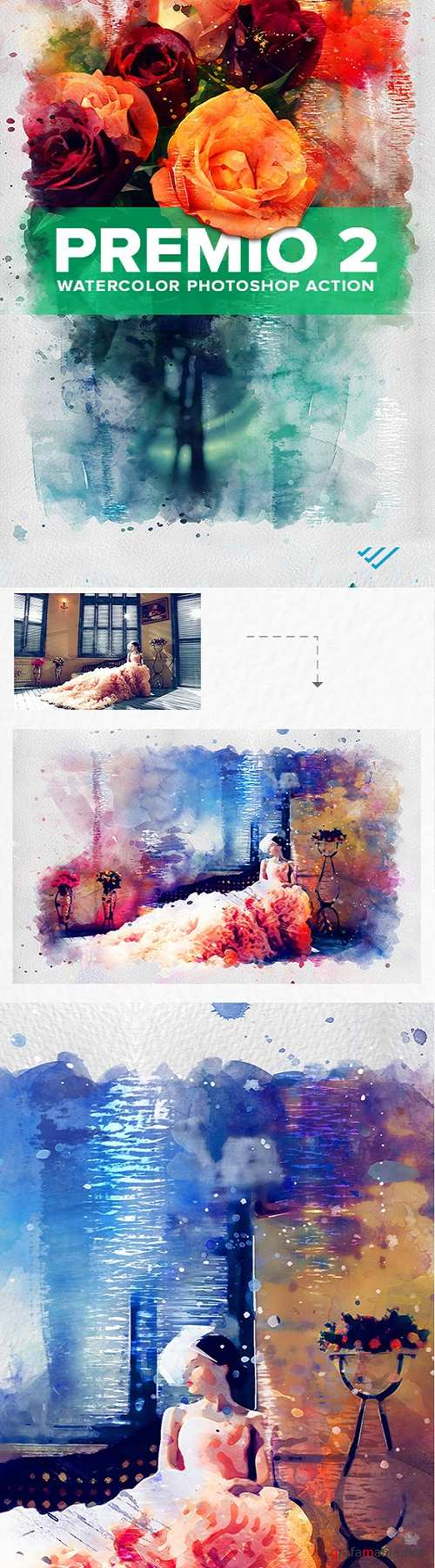 Premio 2 Watercolor Photoshop Action - 22256947