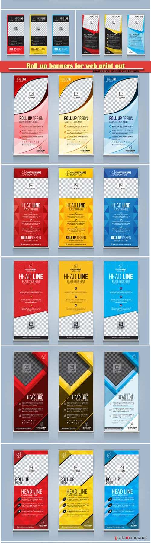 Roll up banners for web and advertisement print out, vector flyer handout design # 2