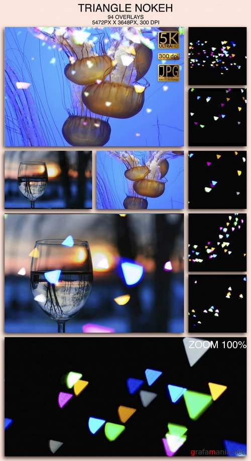 Triangle Bokeh Overlays - 000203