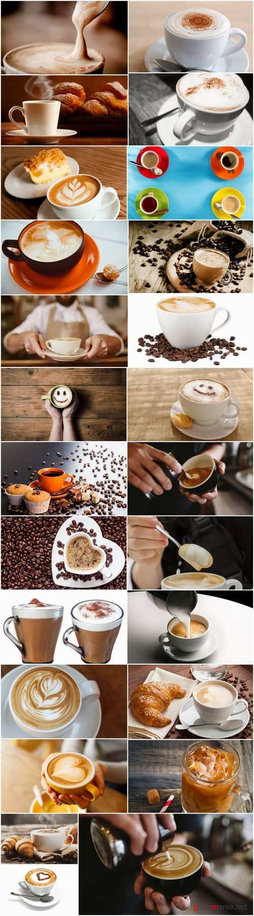 Cappuccino cup of American coffee foam 25 HQ Jpeg