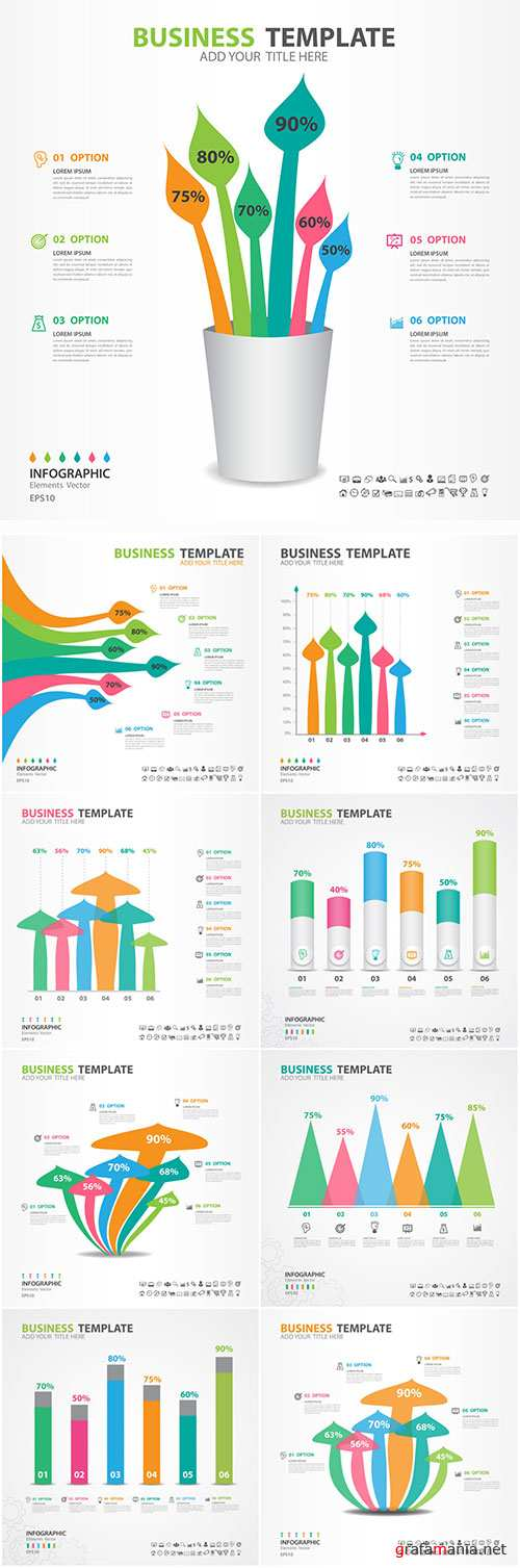 Infographics vector template for business presentations or information banner # 96