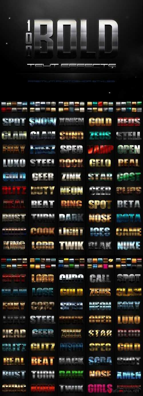 100 Bold Text Effects