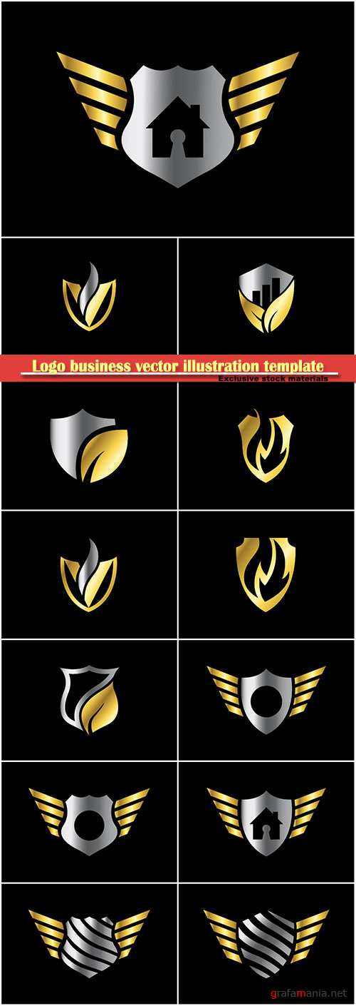Logo business vector illustration template # 113