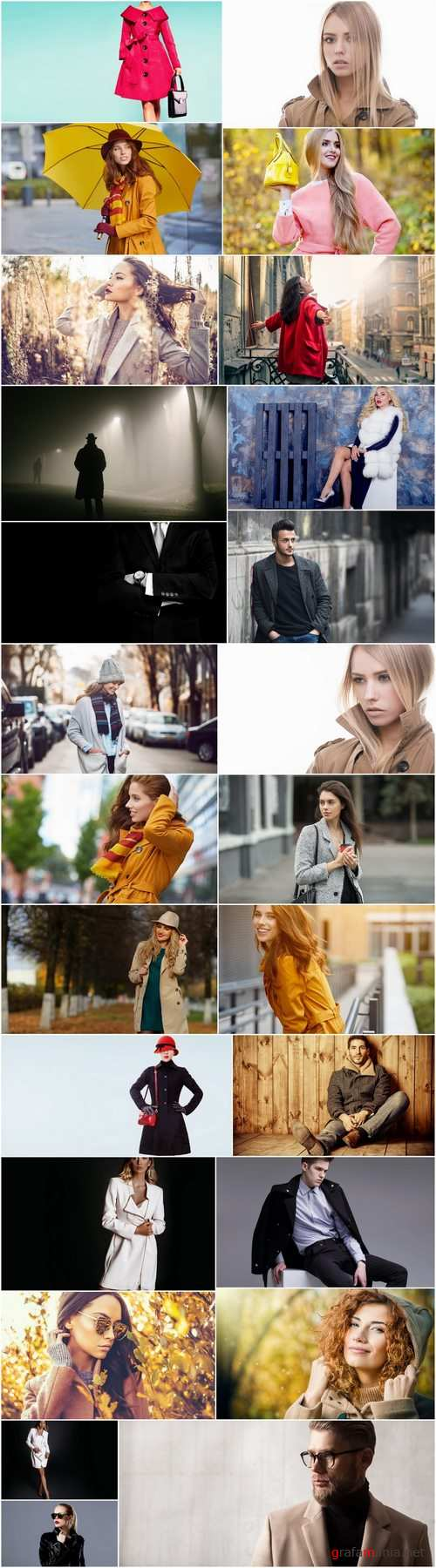 People in warm clothes coat autumn woman man 25 HQ Jpeg