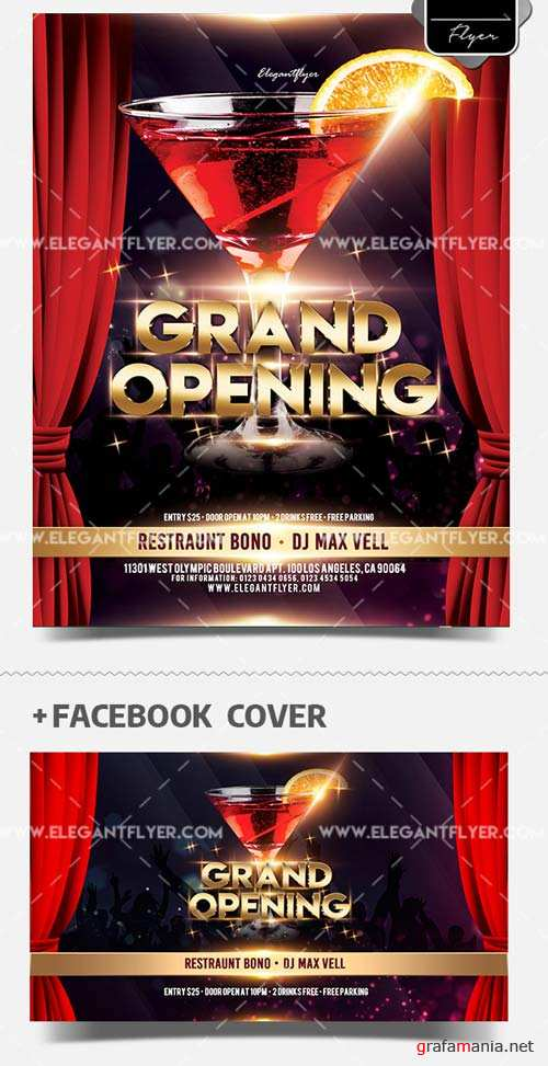 Grand Opening V19 2018 Flyer PSD Template