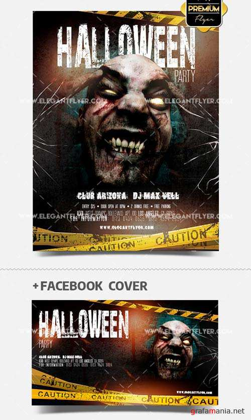 Halloween Party V9 2018 Flyer PSD Template