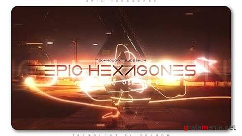 Epic Hexagones Technology Slideshow - After Effects Project (Videohive)