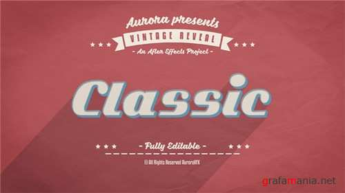 3D Vintage Reveal - After Effects Project (Videohive)