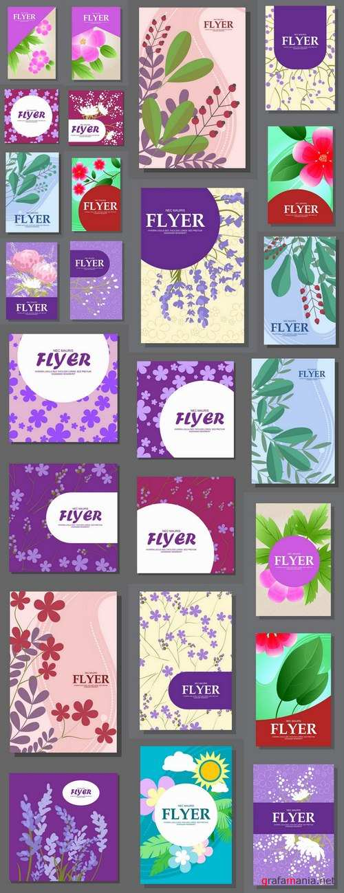 Banner poster flyer cover pattern vector image 25 EPS