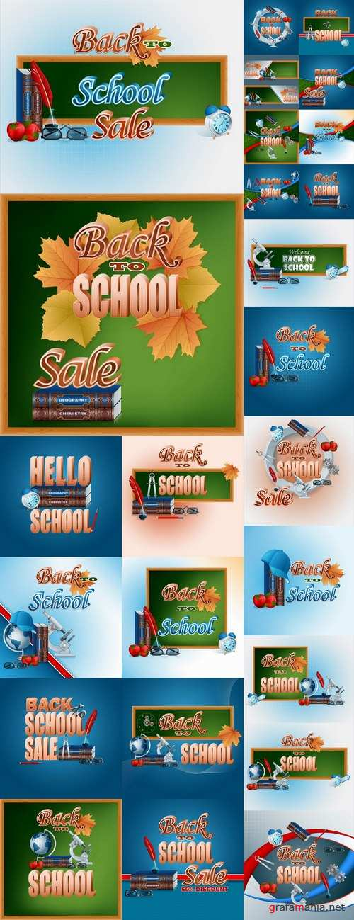 Back to school academic year education process 25 EPS