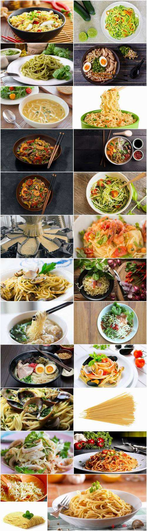 Vermicelli noodles soup pasta spaghetti food meal 25 HQ Jpeg