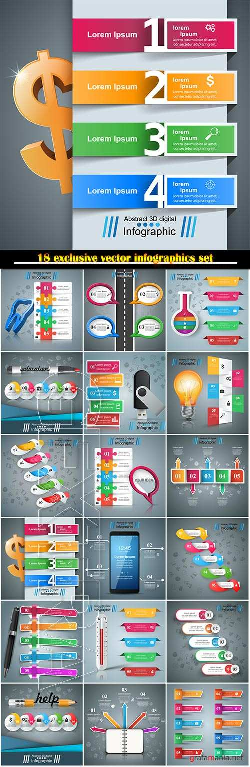 Infographics vector template for business presentations or information banner # 101