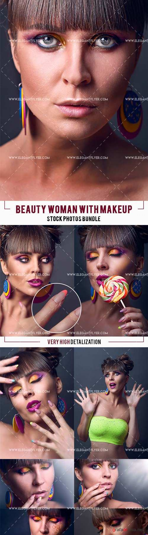 Stock Photos V4 2018 Bundle of Beauty Woman with Makeup – Beauty Girl's Face