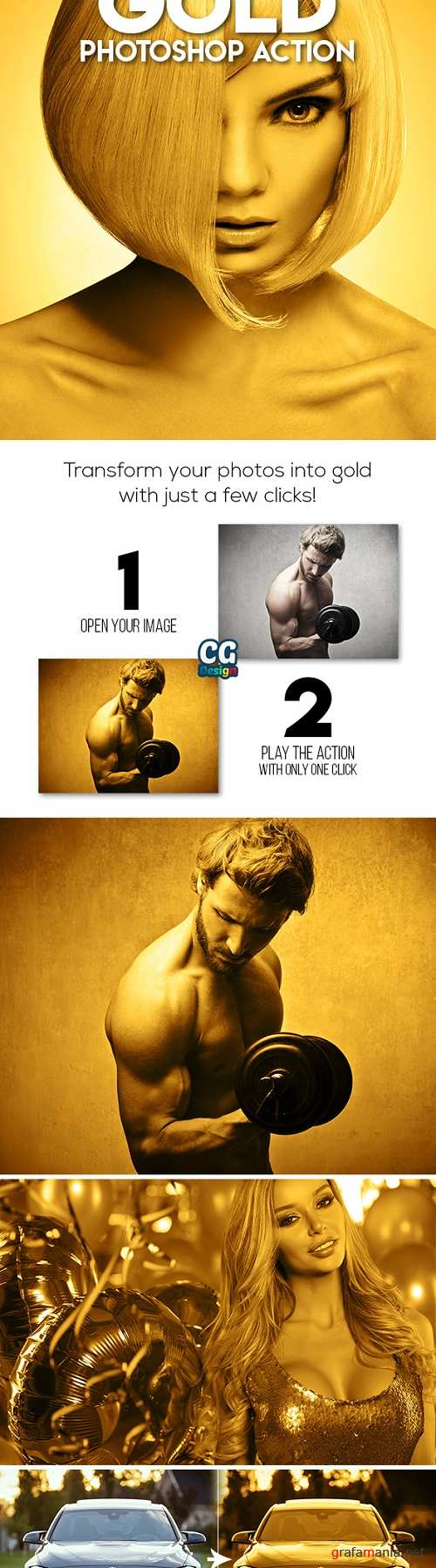MicroPro Gold Photoshop Action 21194259