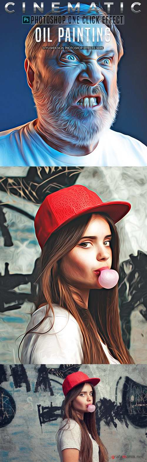 Oil Painting Photoshop Actions 22575133