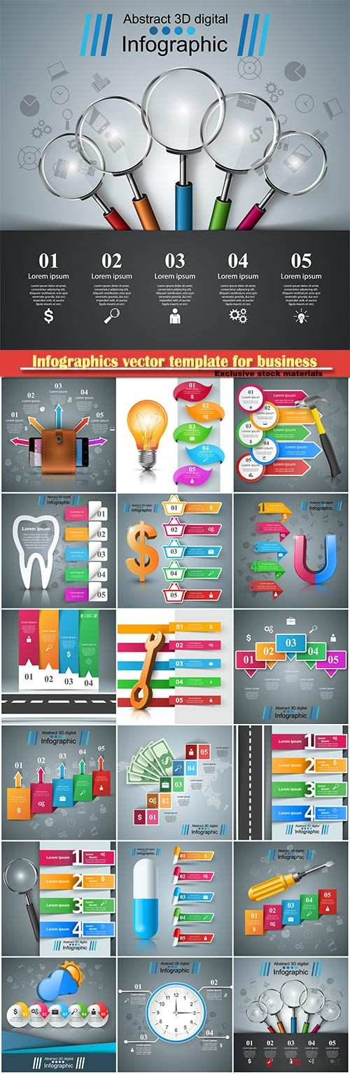 Infographics vector template for business presentations or information banner # 102