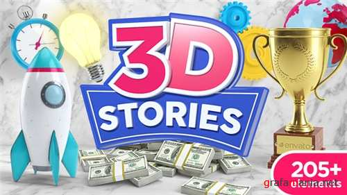 3D Animated Icons - After Effects Project (Videohive)