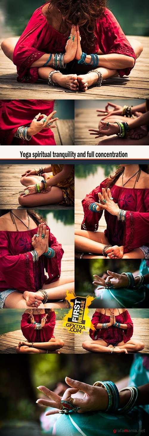 Yoga spiritual tranquility and full concentration
