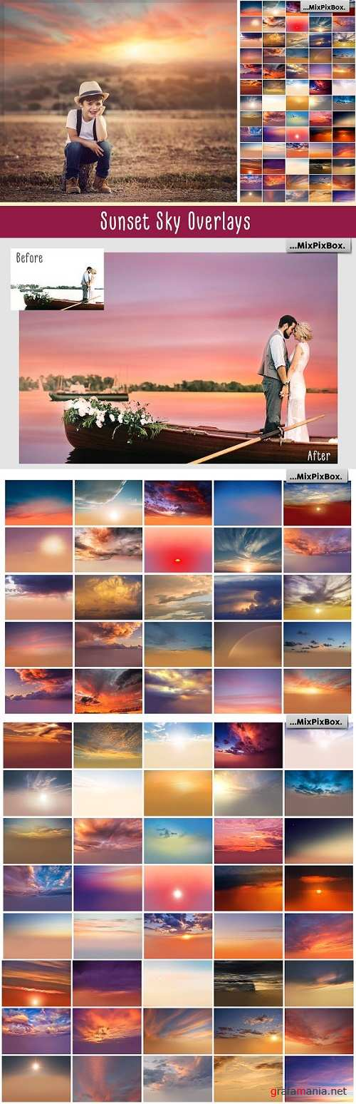 Sunset Sky Photo Overlays - 2568179