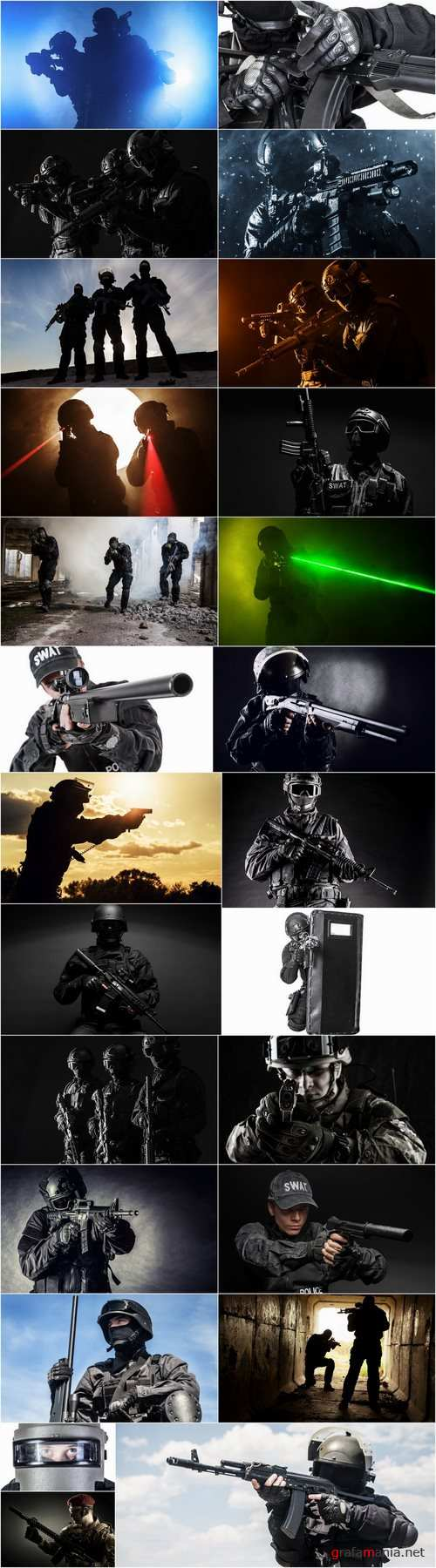 Special forces antiterrorist squad soldier soldiers police weapons 25 HQ Jpeg