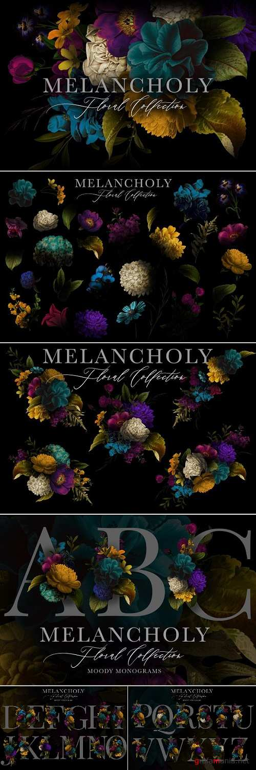 Melancholy Floral Collection - 2906566