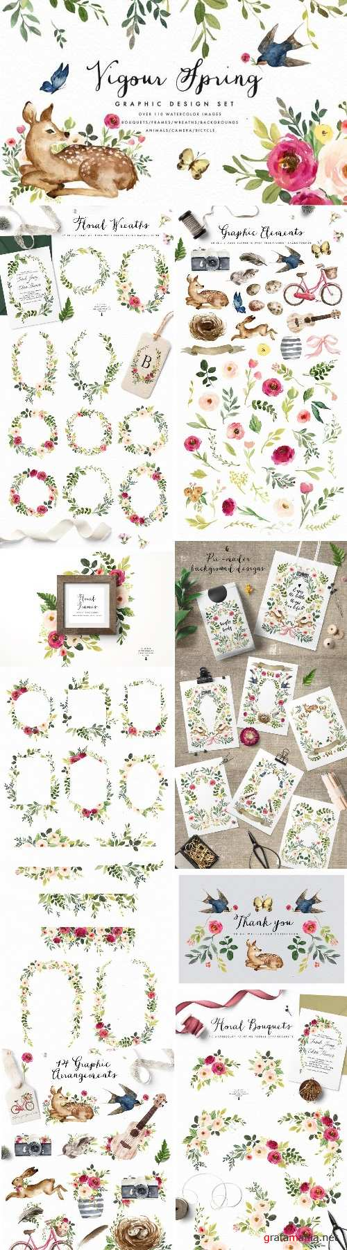Vigorous Spring-Graphic Design Set - 2190079