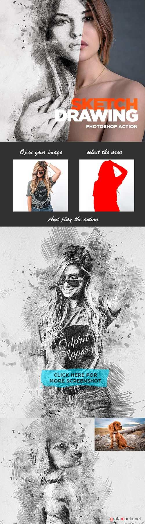 Sketch Drawing - Photoshop Action 22588545