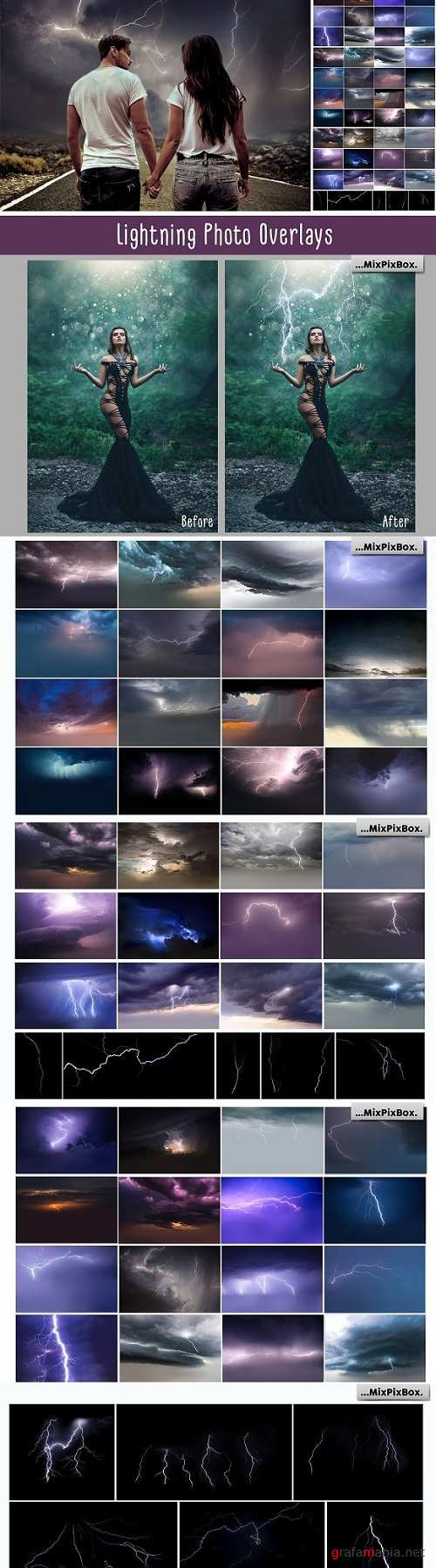 Lightning Photo Overlays - 2341348