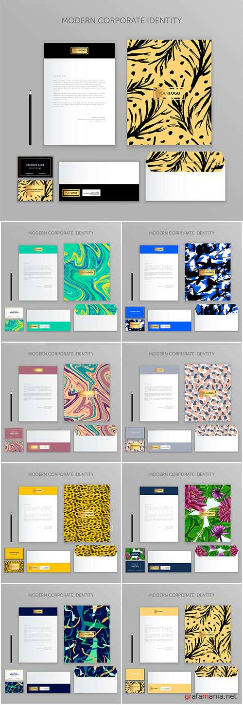 Corporate identity business set , modern stationery vector template design