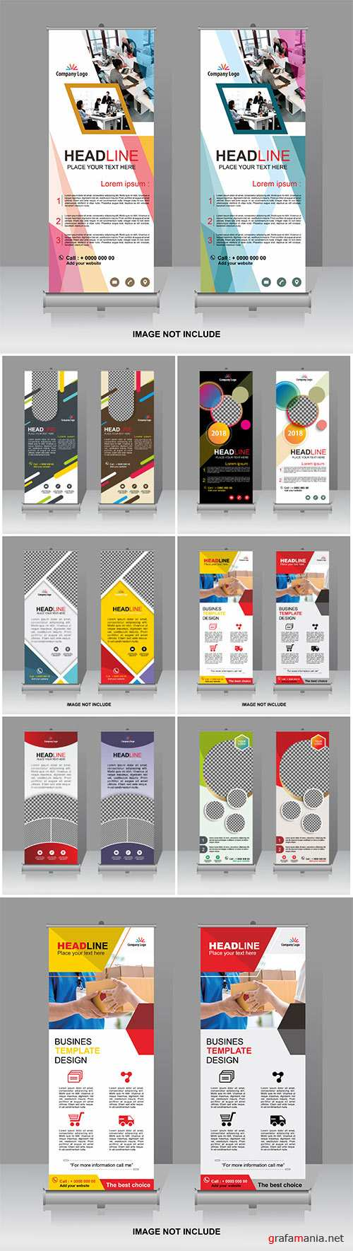 Roll-up vector template