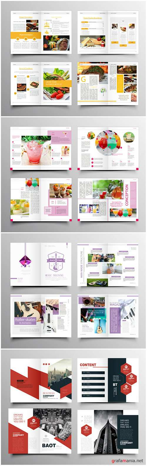 Brochure template vector layout design, corporate business annual report, magazine, flyer mockup # 230
