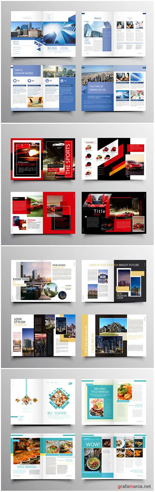 Brochure template vector layout design, corporate business annual report, magazine, flyer mockup # 228