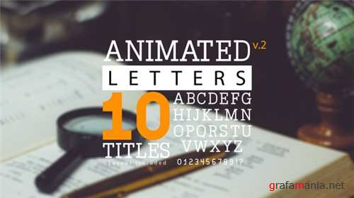 Animated Letters & 10 Titles Layout 2 - After Effects Project (Videohive)