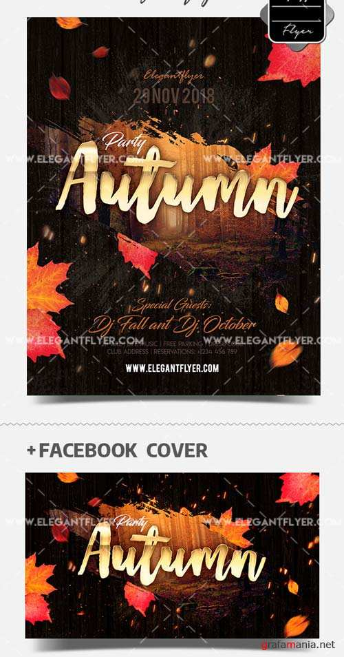 Autumn Party V17 2018 PSD Flyer Template