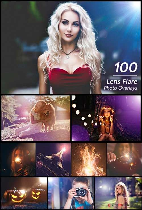 100 Lens Flare Overlays - 3107271