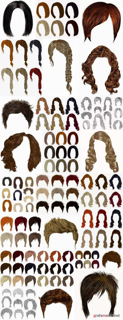 Wig hair styling 25 EPS