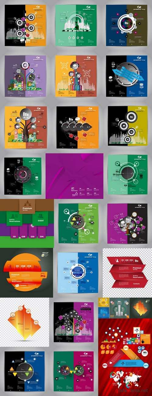 Infographics banner flyer business conceptual vector image 25 EPS
