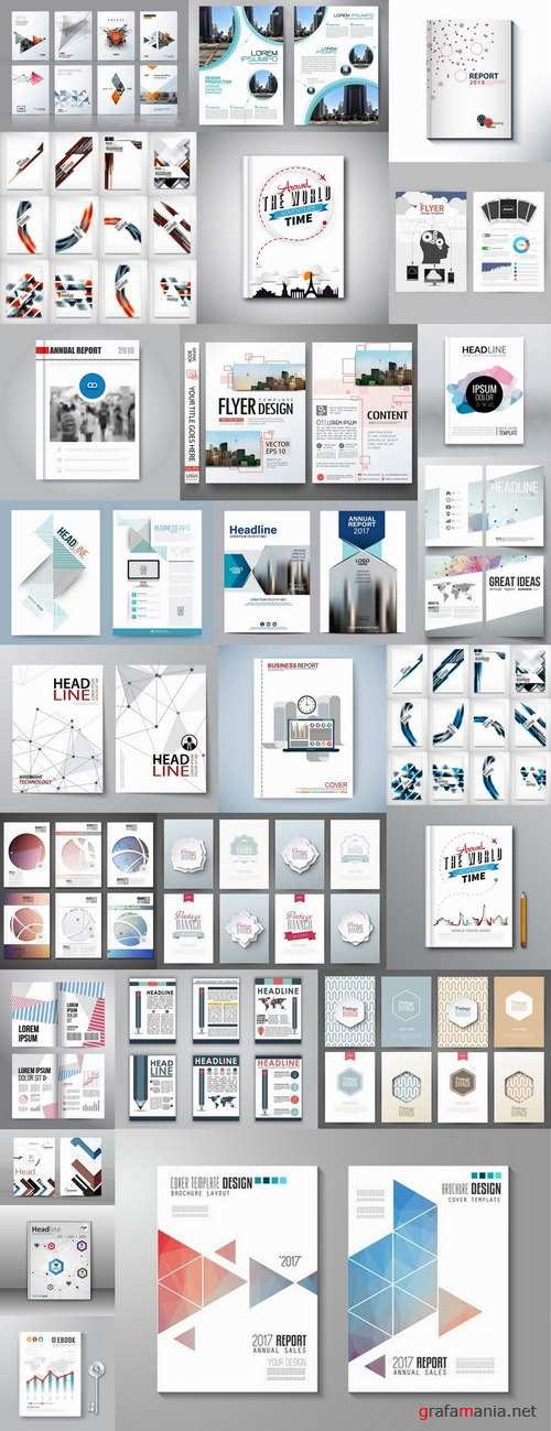 Book cover template log example flyer banner vector image 25 EPS