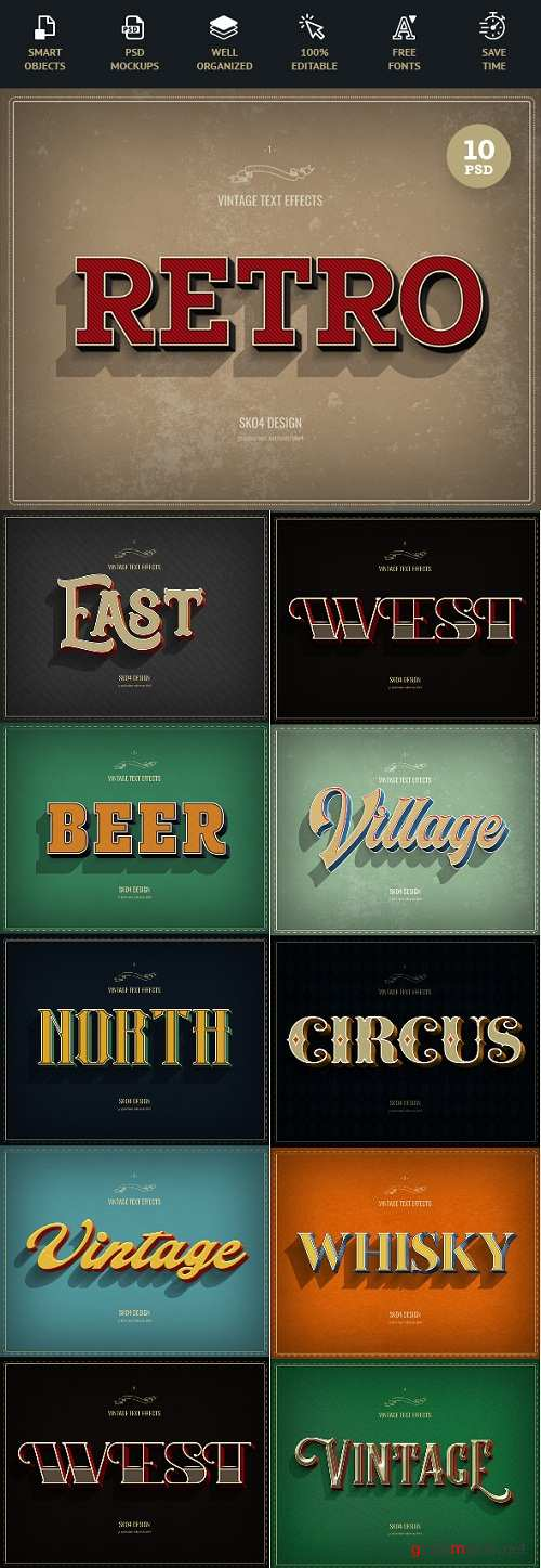 Retro Text Effects - 22670888