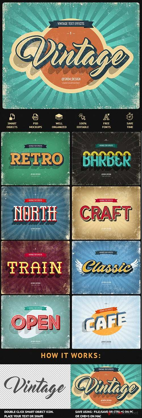 Vintage Text Effects - 22697709