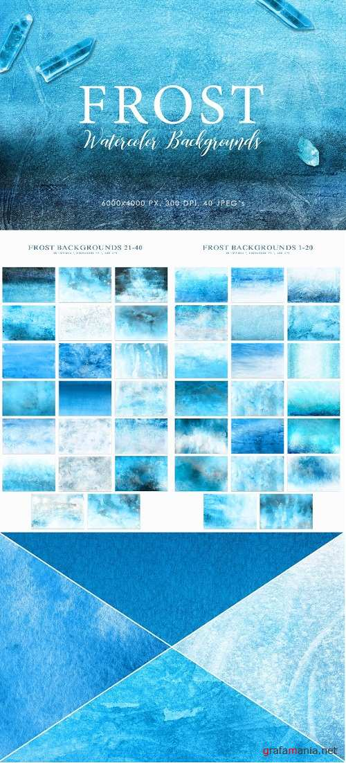 Frost Watercolor Backgrounds - 3050799