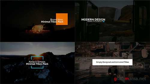 Minimal Intro Titles Pack lV - After Effects Project (Videohive)