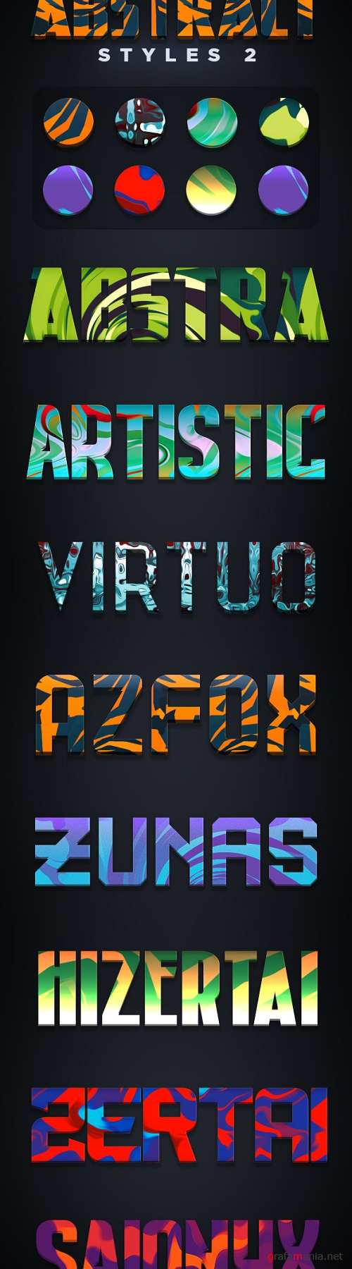 Abstract Photoshop Styles 2 - 18591422