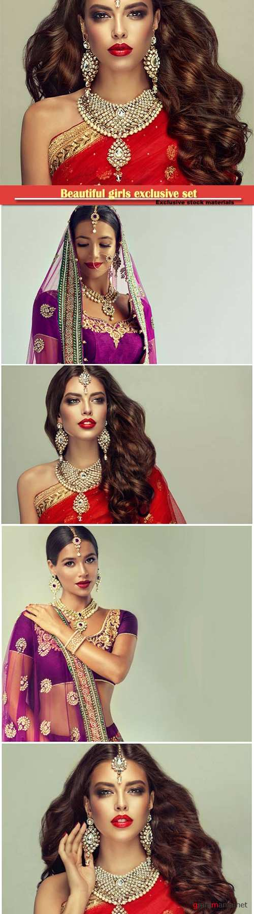 Beautiful Indian girls with precious jewels