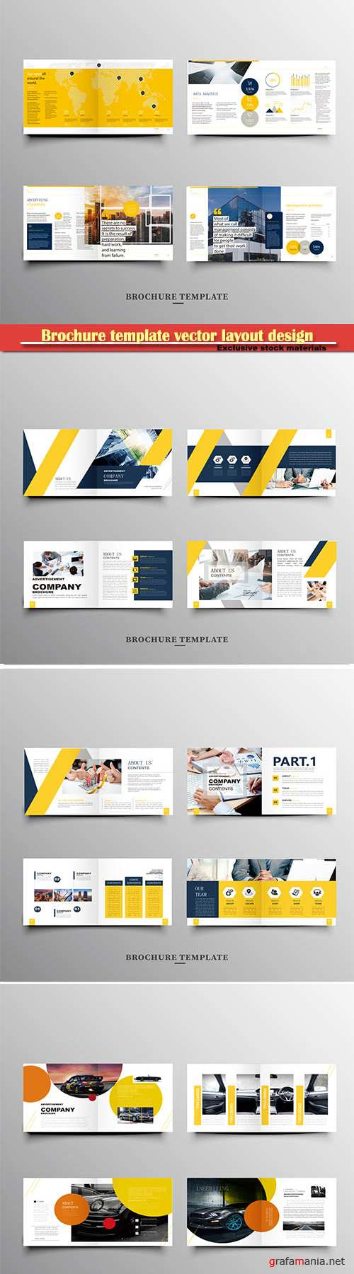 Brochure template vector layout design, corporate business annual report, magazine, flyer mockup # 249