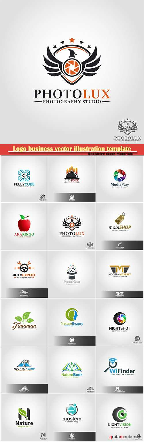 Logo business vector illustration template # 162
