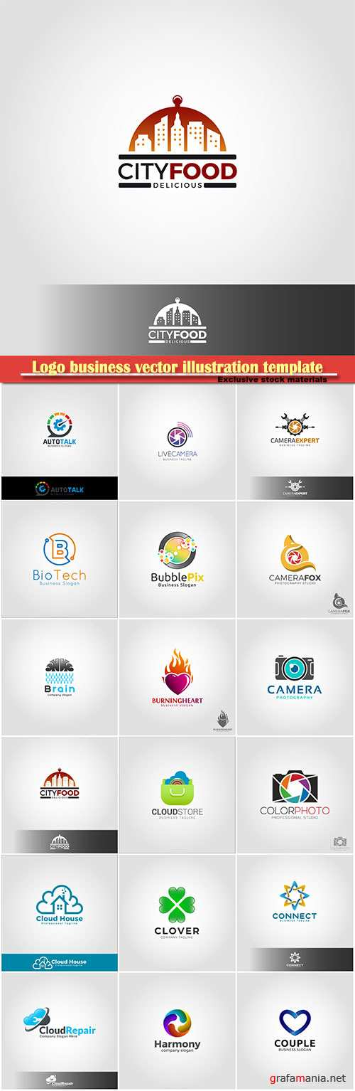 Logo business vector illustration template # 167
