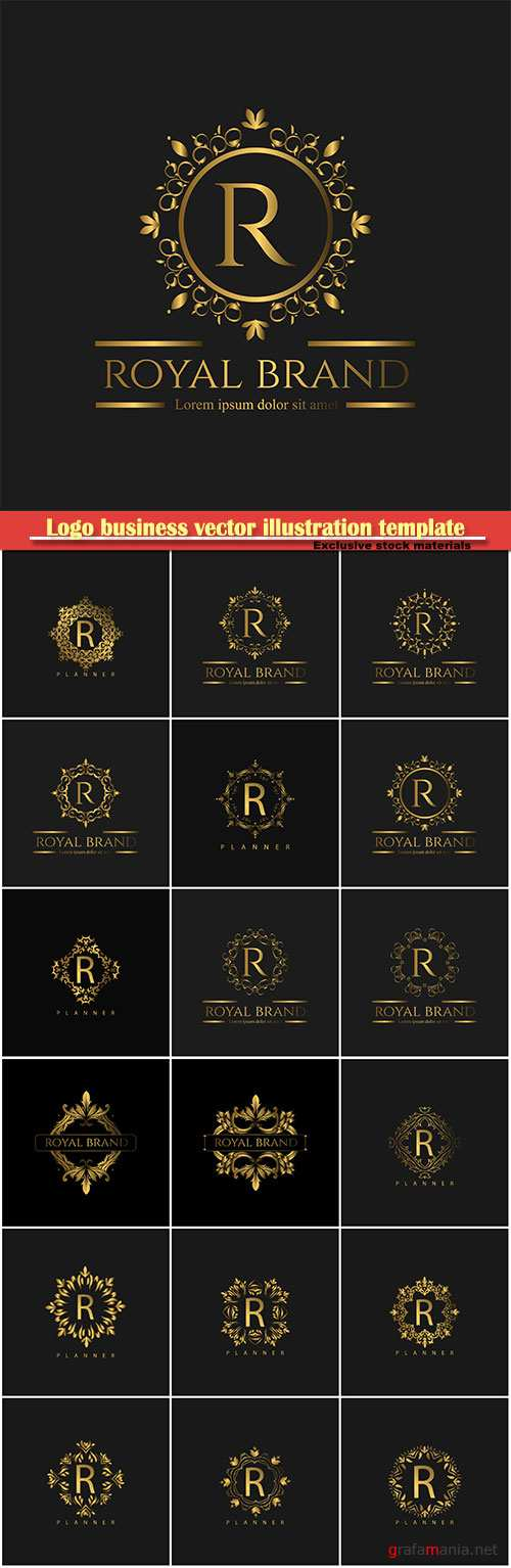 Logo business vector illustration template # 169