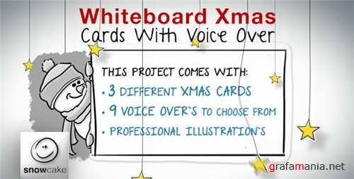 Whiteboard Xmas Cards With Voice Over - After Effects Project (Videohive)