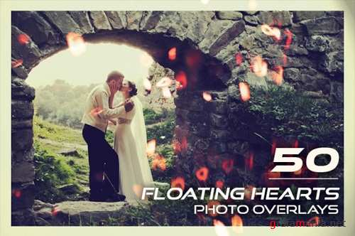 50 Floating Hearts Photo Overlays 3502297